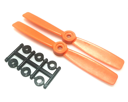 HQProp 3D 5x4.5 CCW Orange (pack of 2) bizmodel HQP010605454