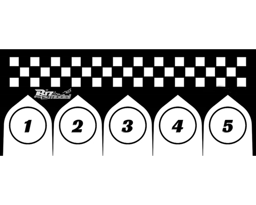 Start Pads for Racing Class 75x170cm bizmodel PADLAND004