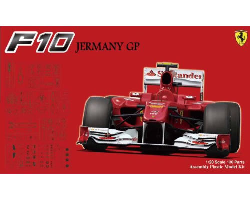 Ferrari F10 German GP 1:20 fujimi FUJ09094