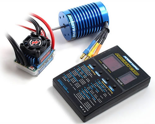 EZRUN Combo regolatore Brushless 60 A + motore 3650M 9T + Program Card Led hobbywing COMBO-B6