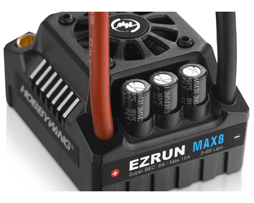 EZRUN MAX8 V3 Regolatore Brushless 150 A Sensorless Waterproof connettore T-Plug 1:8 On-Road - Monster - Truggy hobbywing HW30103200
