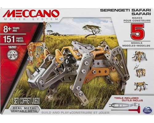 5 Model Set - Safari meccano MEC6033322