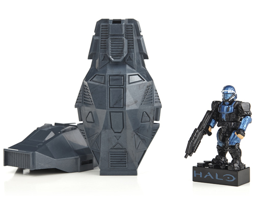 Metallic Series Blue ODST Drop Pods megabloks MBL97418