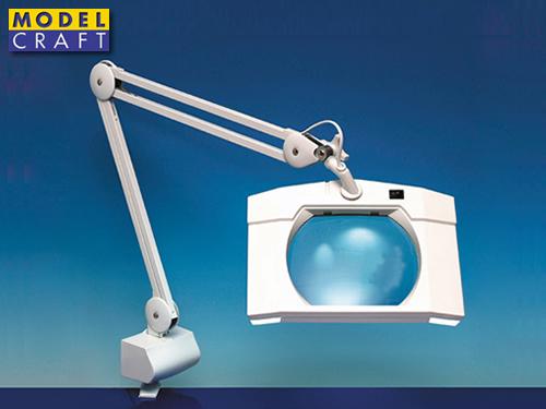 Modelcraft lampada rettangolare con lente d ingrandimento lc