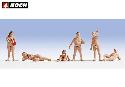 Nudisti 6 personaggi HO noch NH15843
