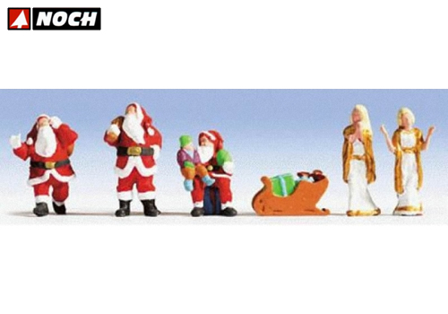 Santa Claus 5 personaggi con accessori HO noch NH15920