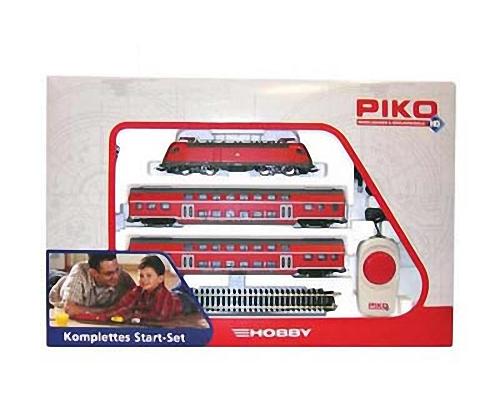 Piko start set locomotore br 182 e 2 carrozze a due piani for Piani a due piani moderni
