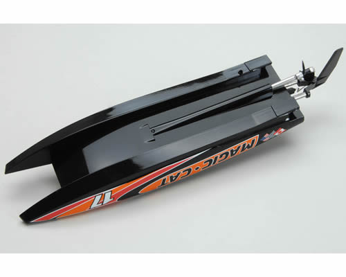 Motoscafo Catamarano Magic Cat 2,4 GHz RTR Nero radiokontrol JSW8108