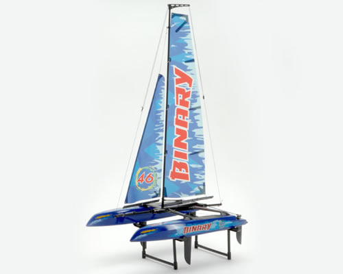 Mini Catamarano Binary 2,4 GHz RTR Blue radiokontrol JSW8807B