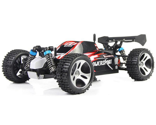 Radiokontrol automodello buggy 4wd 1 18 2 4 ghz rossa rtr for Caricabatterie ultimate speed