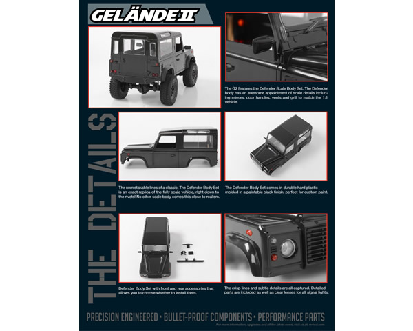 Gelande II RTR with D90 Body Set 1:18 rc4wd RC4ZRTR0026