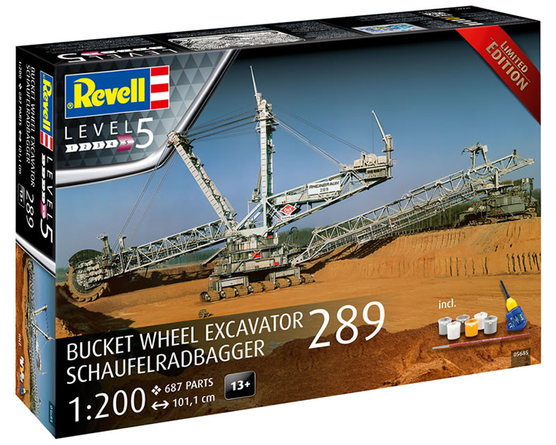 Gift Set Bucket wheel excavator 289 Ltd.edition 1:200 revell REV05685