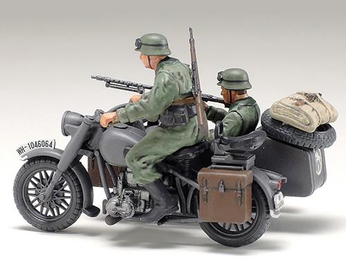 tamiya modellismo 2 Soldati 1:48 TA32578 German Motorcycle//Sidecar