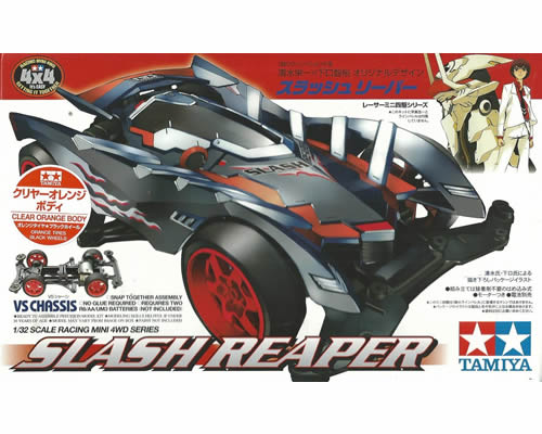 Mini4WD Slash Reaper Clear Orange VS Chassis tamiya TA95219