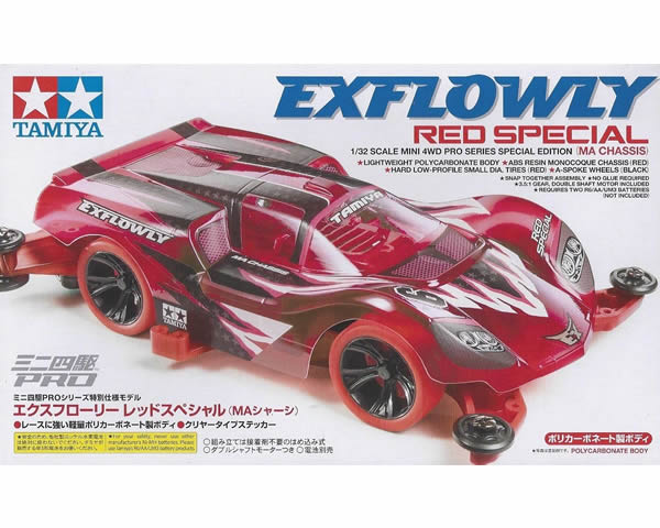 Mini4WD Pro Exflowly Red Special MA Chassis tamiya TA95339