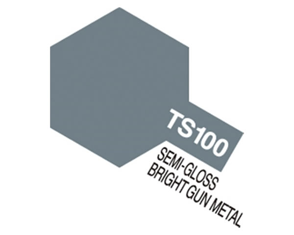 TS100 Bright Gun Metal Semi Gloss tamiya TS100