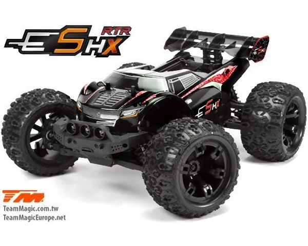 Automodello E5 HX Monster Truck Brushless 1:10 4WD 2,4 GHz RTR Rosso teammagic TM510003R