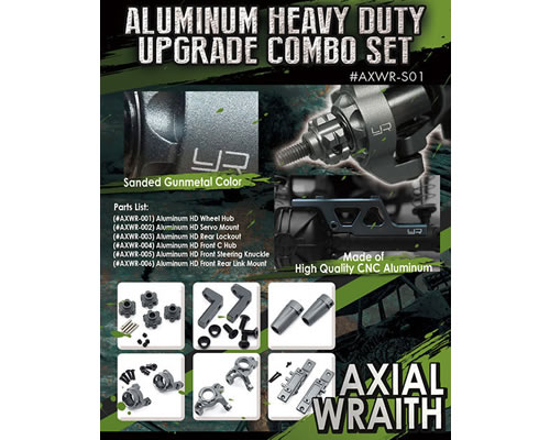 Combo set option in alluminio per Axial Wraith yeahracing AXWR-S01