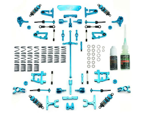 Kit conversione in alluminio Ultimate Version Tamiya TT-01 / TT-01E Blu yeahracing CK-TT01-EV2B