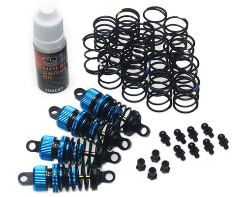 Set ammortizzatori 50 mm per 1:10 Touring Shock Gear (4 pz) yeahracing DSG-0050BU