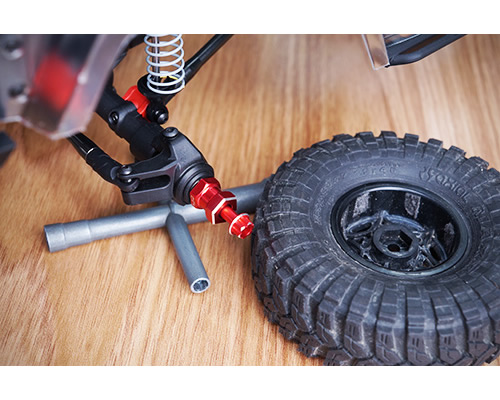 Trascinatori ruote in alluminio Neri x Scaler con offset +15 mm trascinatore da 12 mm (4 pz) yeahracing WA-023BK