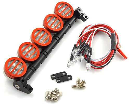 Kit barra con 5 fari a Led Scaler yeahracing YA-0370