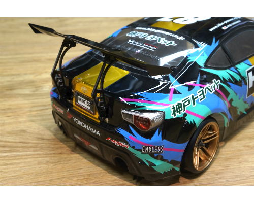 Alettone 1:10 Drift/Touring con supporto in Carbonio regolabile 52x135 mm Tipo B yeahracing YA-0509